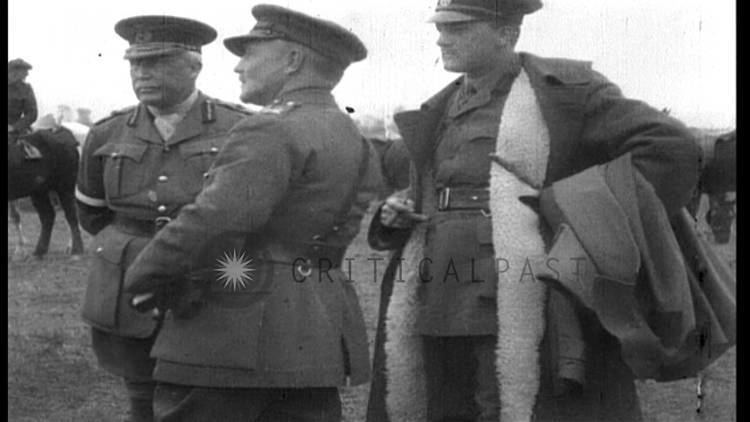Bryan Mahon British General George Milne and General Sir Bryan Mahon watch a