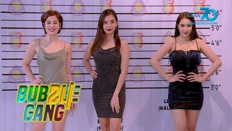 Valeen Montenegro, Analyn Barro, and Faye Lorenzo, casts of Bubble Gang, a Philippine television sketch comedy show.