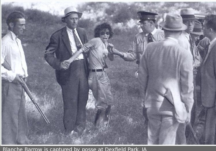 Buck Barrow Blanche Barrows39 capture she of the Bonnie amp Clyde gang