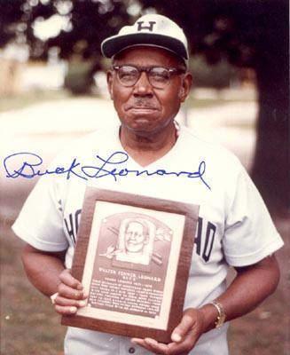 Buck Leonard Buck Leonard Autographed 8x10