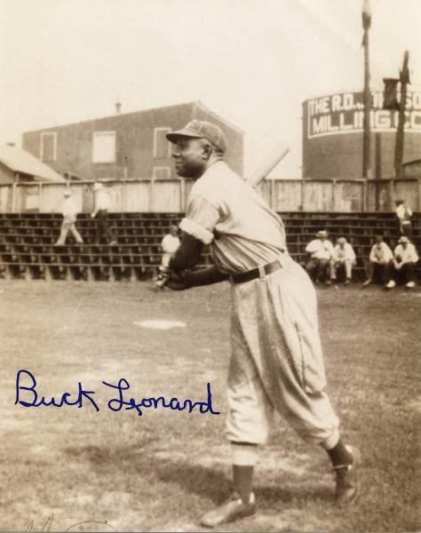 Buck Leonard Walter F Buck Leonard and Jackie Robinson Baseball Legends