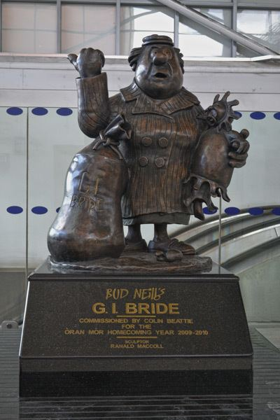 Bud Neill Discover Glasgow Statues Lobby Dosser