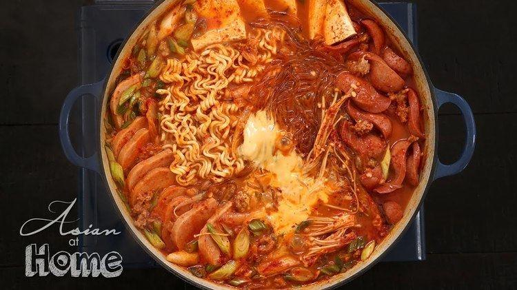 Budae-jjigae Asian at Home Budae Jjigae Korean Army Base Stew YouTube