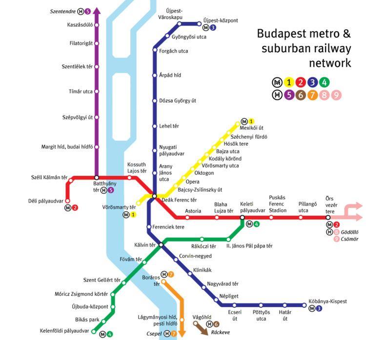 Budapest Metro List of Budapest Metro stations Wikipedia