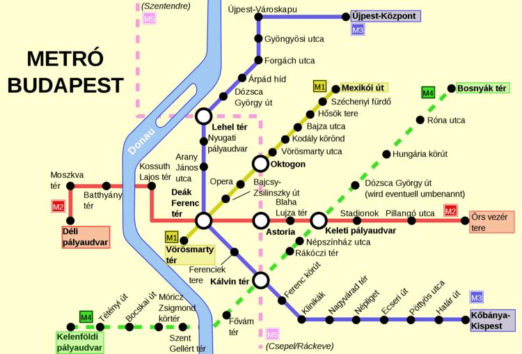 Budapest Metro Budapest metro map Hungary