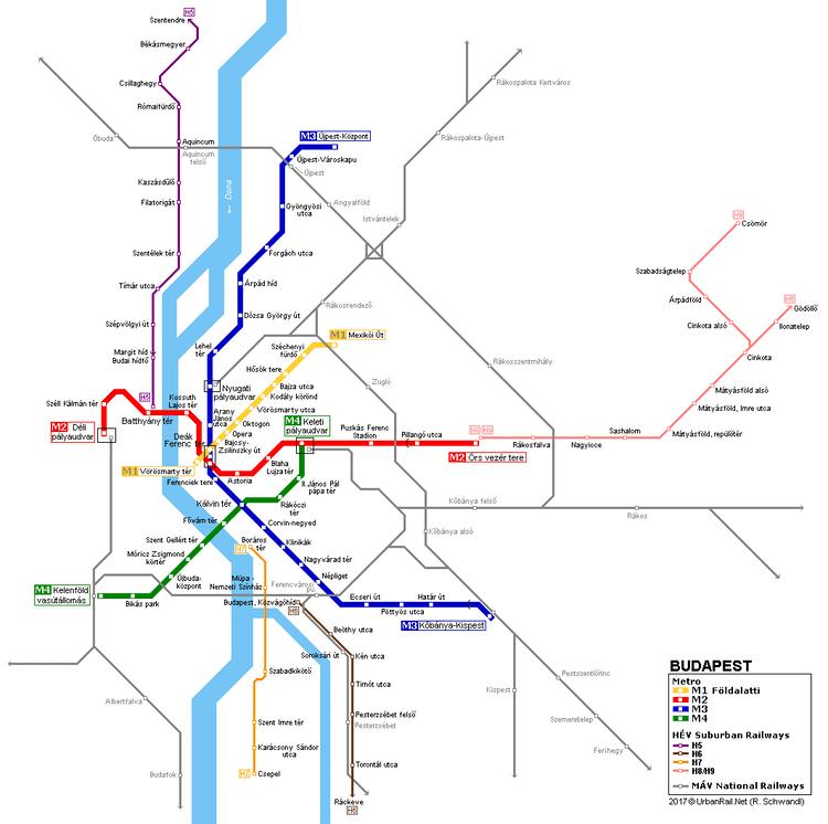 Budapest Metro UrbanRailNet gt Europe gt Hungary gt BUDAPEST Metro Subway