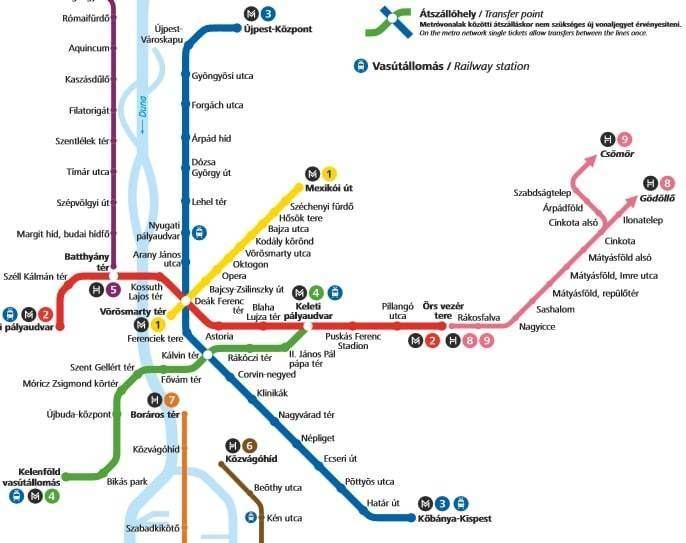 Budapest Metro Budapest metro map