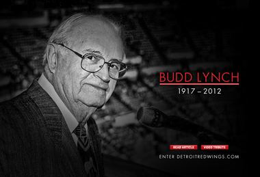 Budd Lynch Red Wings icon Budd Lynch remembered for warm personality