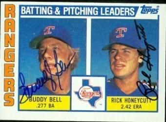 Buddy Bell Autographed Buddy Bell Cards Authentic MLB Signed Buddy Bell