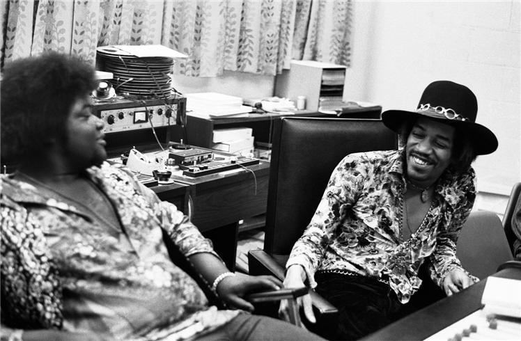 Buddy Miles Jimi Hendrix and Buddy Miles The Record Plant NYC 1968