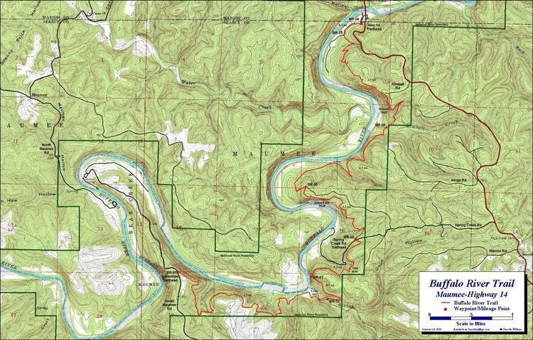 Buffalo River Trail Buffalo River Trail Maumee Section Free Detailed Topo Map