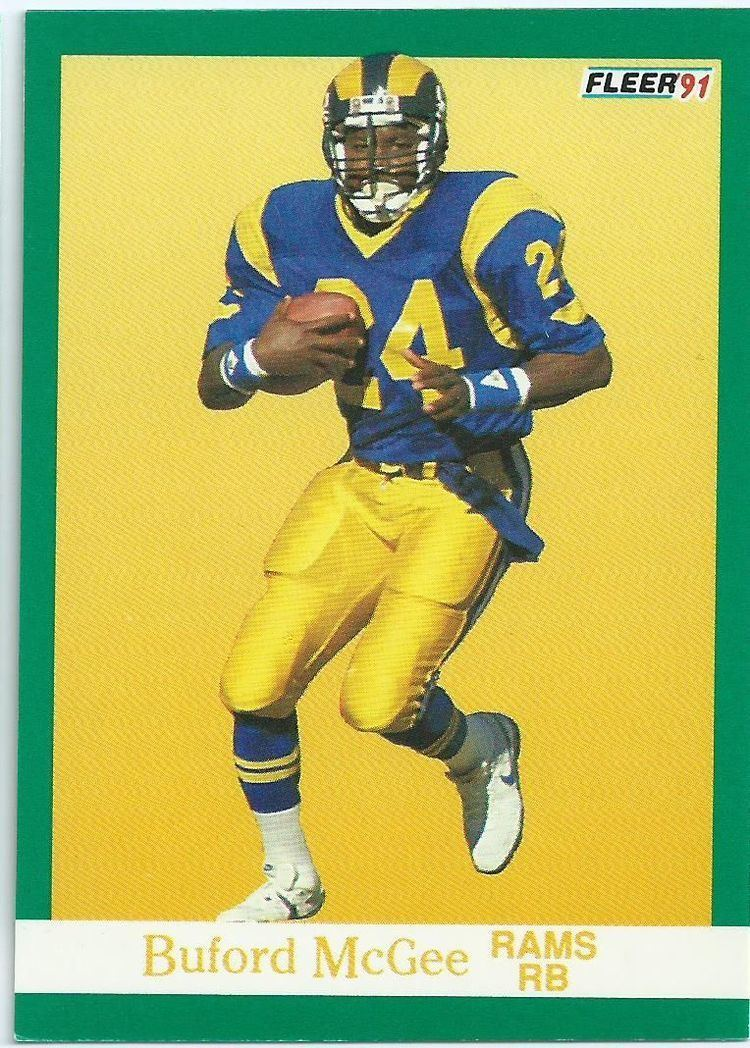 Buford McGee LOS ANGELES RAMS Buford McGee 273 1991 Fleer Collectable NFL