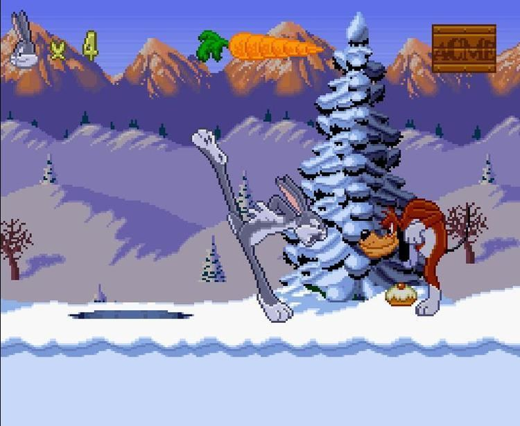 Bugs Bunny Rabbit Rampage Bugs Bunny in Rabbit Rampage USA ROM lt SNES ROMs Emuparadise