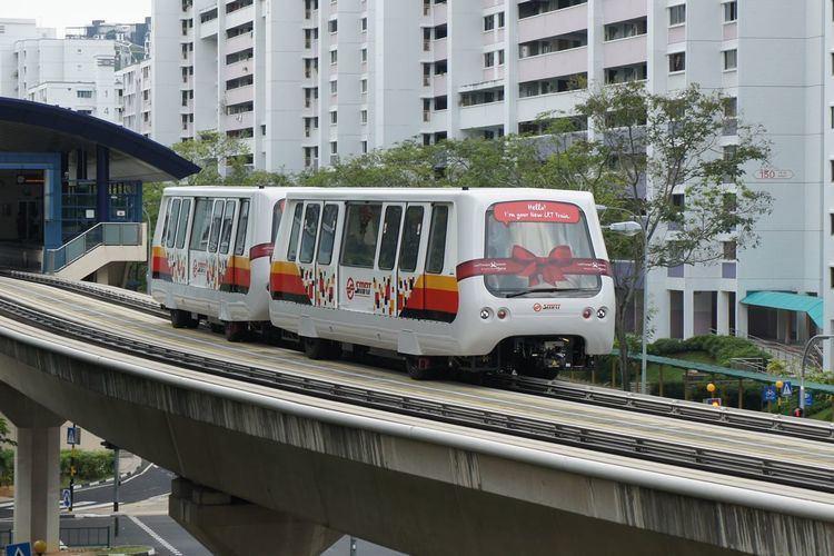 Bukit Panjang LRT Line Bombardier INNOVIA APM100 C801A SGTrainscom