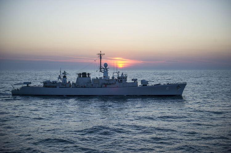 Bulgarian Navy FileThe Bulgarian Naval Forces frigate BGS Drazki F 41 is seen