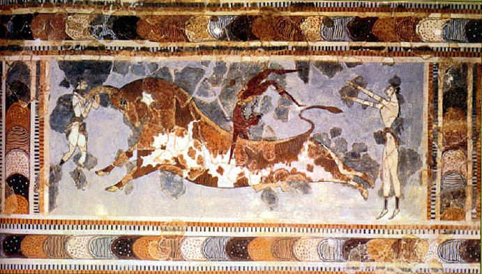 Bull-leaping Ancient History The Minoan Bull Leaping Fresco