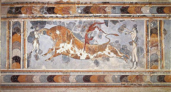 Bull-leaping httpsuploadwikimediaorgwikipediacommons22