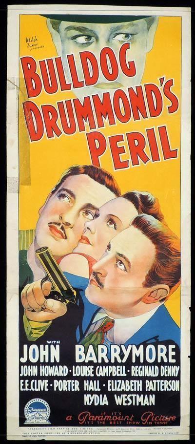 Bulldog Drummond's Peril BULLDOG DRUMMONDS PERIL Long Daybill Movie poster 1938 John Barrymore