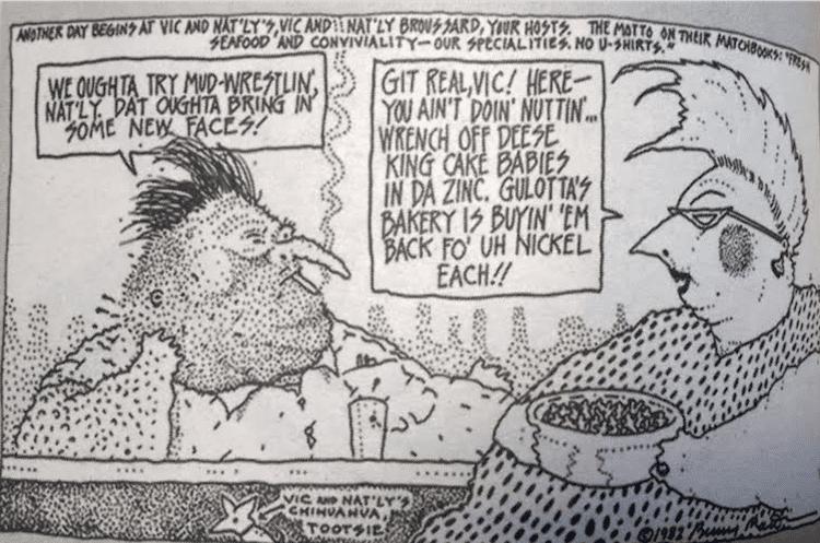 Bunny Matthews Vic and Natly cartoonist Bunny Matthews announces he has brain