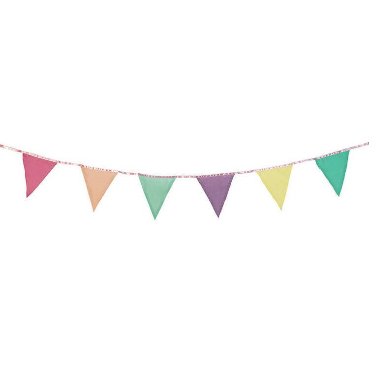 Bunting (textile) bright fabric bunting by postbox party notonthehighstreetcom