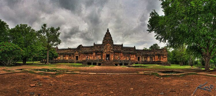 Panoramic HDR Photo from Phanom Rung Historical Park Buriram Thailand