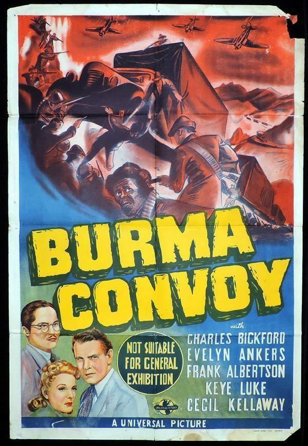 Burma Convoy BURMA CONVOY One Sheet Movie Poster Charles Bickford