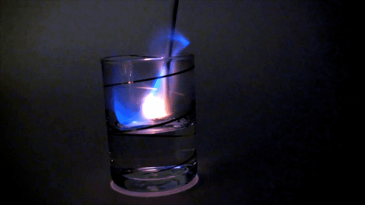 Burning Up (film) Burning up alcohol inside clear vodka glass The film was shot at