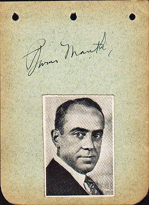 Burns Mantle Theatre Critic Robert Burns Mantle Autograph Whats it worth