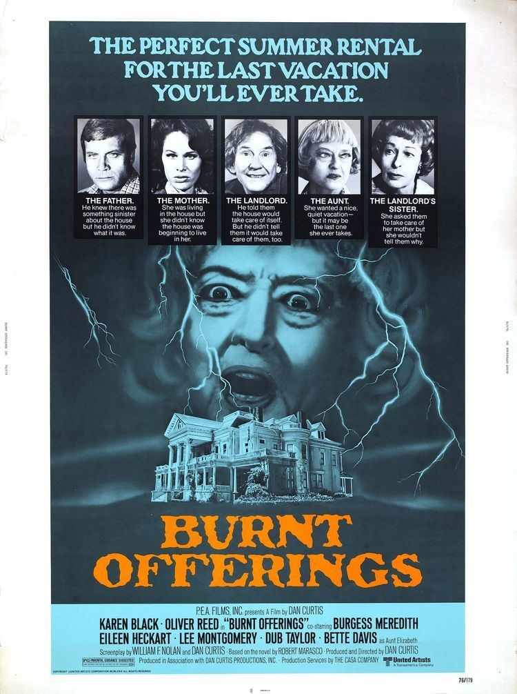Burnt Offerings (film) Poster for Burnt Offerings 1976 USA Italy Wrong Side of the Art