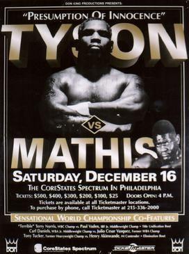 Buster Mathis Jr. Mike Tyson vs Buster Mathis Jr Wikipedia