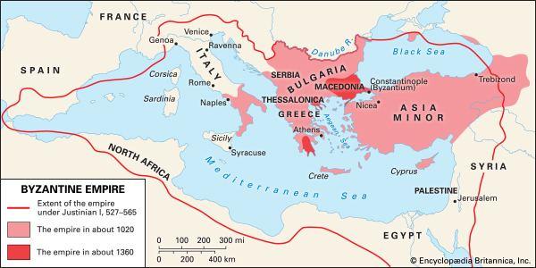 Byzantine Empire Byzantine Empire historical empire Eurasia Britannicacom