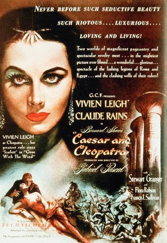 Caesar and Cleopatra (film) Vivien Leigh Caesar and Cleopatra Large Movie Reproduction Poster