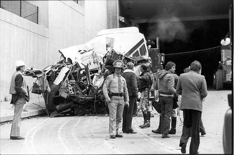 Caldecott Tunnel fire Oakland CA Tanker And Bus Collision In Tunnel Apr 1982
