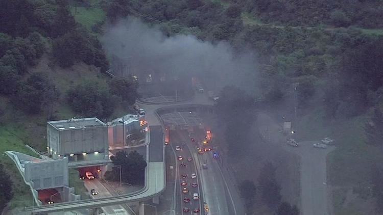 Caldecott Tunnel fire PHOTOS Caldecott Tunnel eastbound bore evacuated due to car fire