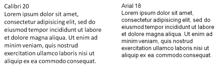 Calibri Typography for Presentations the Size of Calibri powerpointy