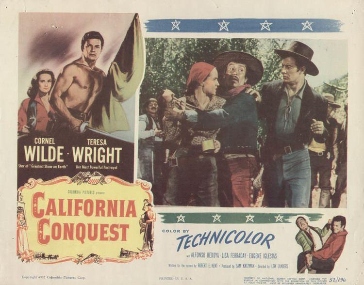 California Conquest California Conquest Movie Cast Lobby Card Unsigned usa 1952