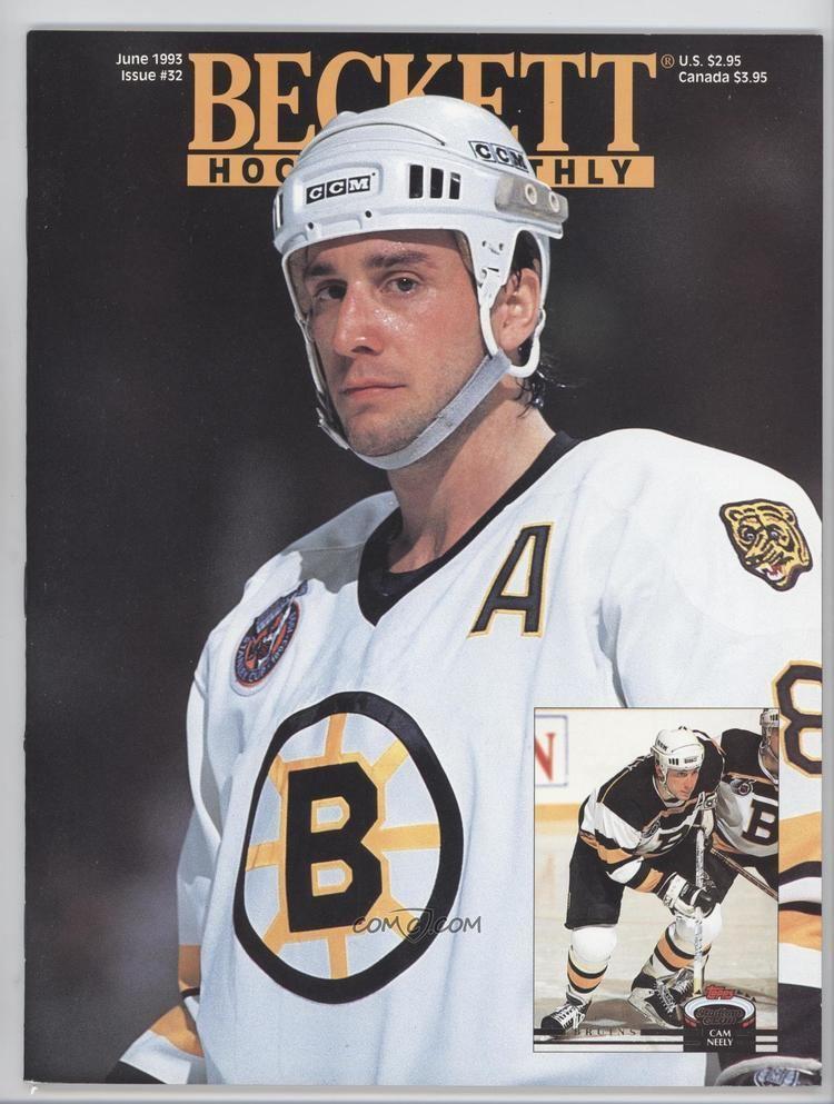 Cam Neely 1990Now Beckett Hockey 32 June 1993 Cam Neely COMC