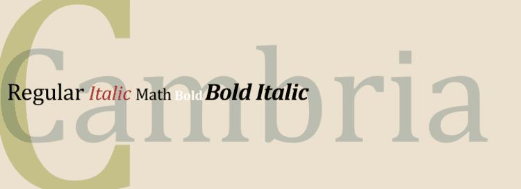 Cambria (typeface) - Alchetron, The Free Social Encyclopedia