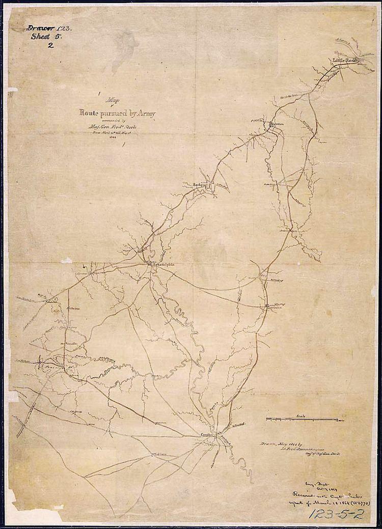 Camden Expedition Camden Expedition Map Encyclopedia of Arkansas
