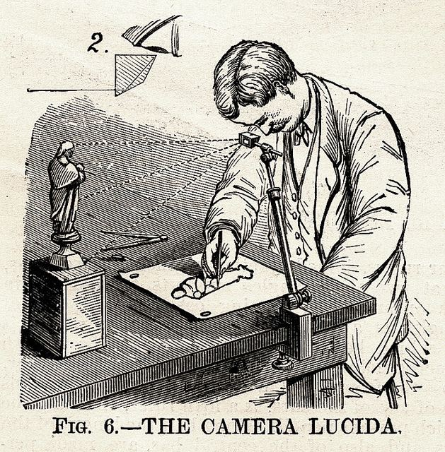 Camera lucida LUCY is a magical drawing tool based on the classic camera lucida