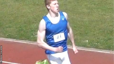Cameron Chalmers Cameron Chalmers breaks Guernsey U17 400m record BBC Sport