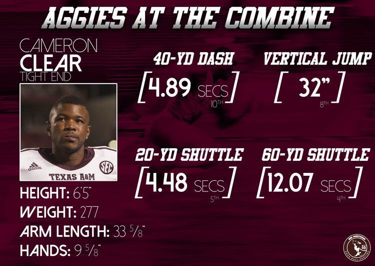 Cameron Clear Aggies at the NFL Combine OLTE Good Bull Hunting