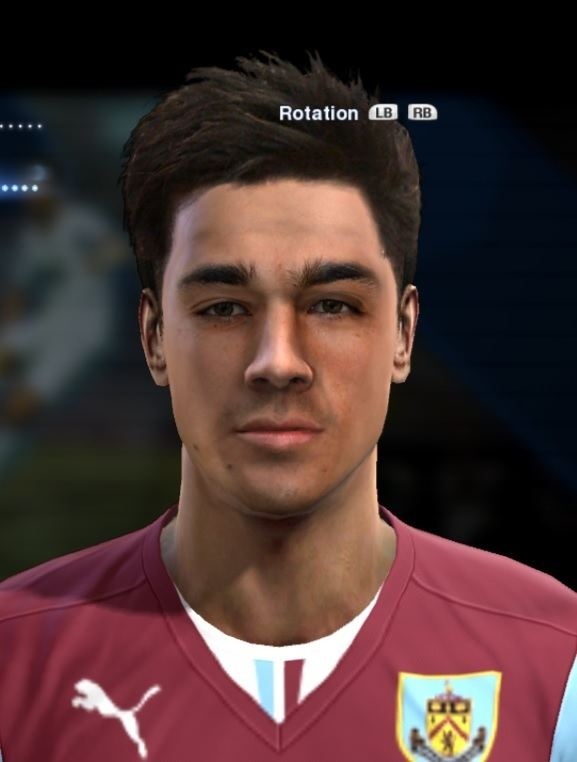 Cameron Howieson Howieson Cameron face for Pro Evolution Soccer PES 2013