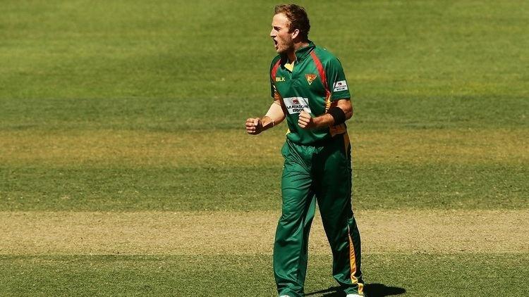 Cameron Stevenson Tasmania39s debutant Cameron Stevenson bowls South Australia out of
