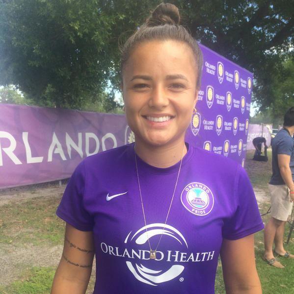 Camila Martins Pereira Camila carries fathers faith to Orlando Pride Orlando Sentinel