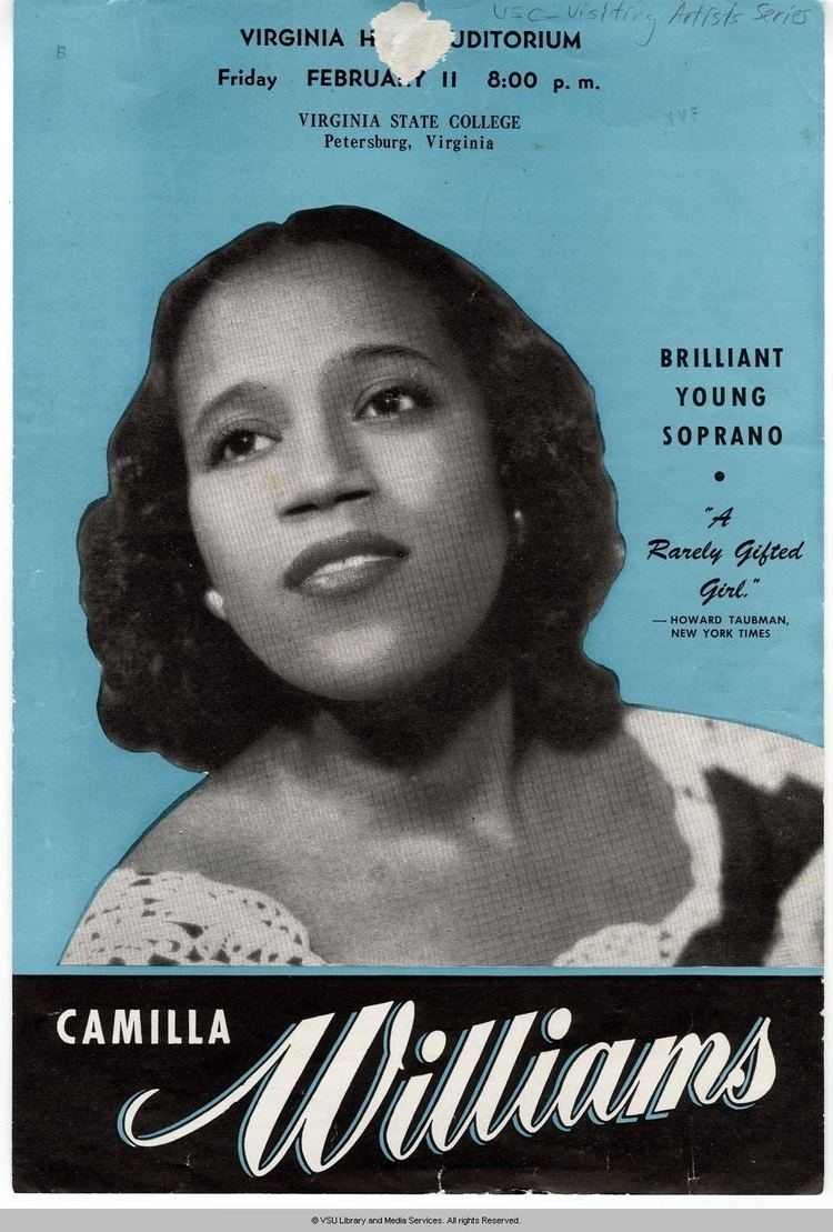 Camilla Williams Passing of a Great Voice Virginia State University