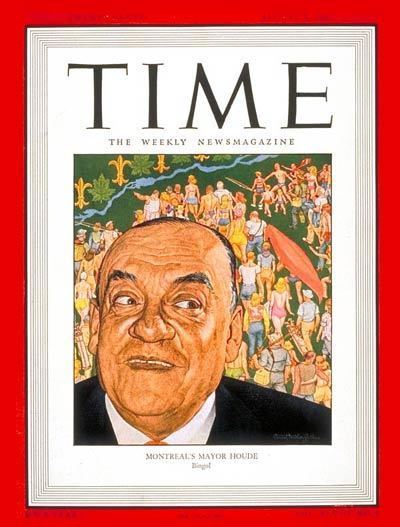 Camillien Houde TIME Magazine Cover Camillien Houde Aug 5 1946