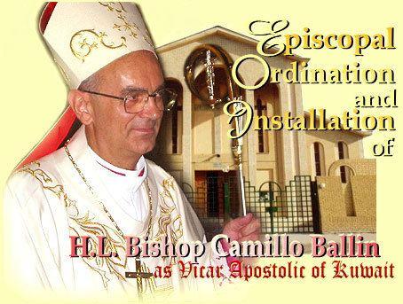Camillo Ballin HL BISHOP CAMILLO BALLIN39S EPISCOPAL ORDINATION Holy