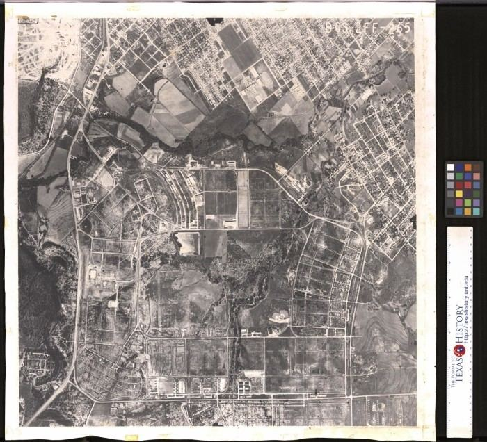 Camp Bowie Aerial Photograph of Camp Bowie Texas The Portal to Texas History