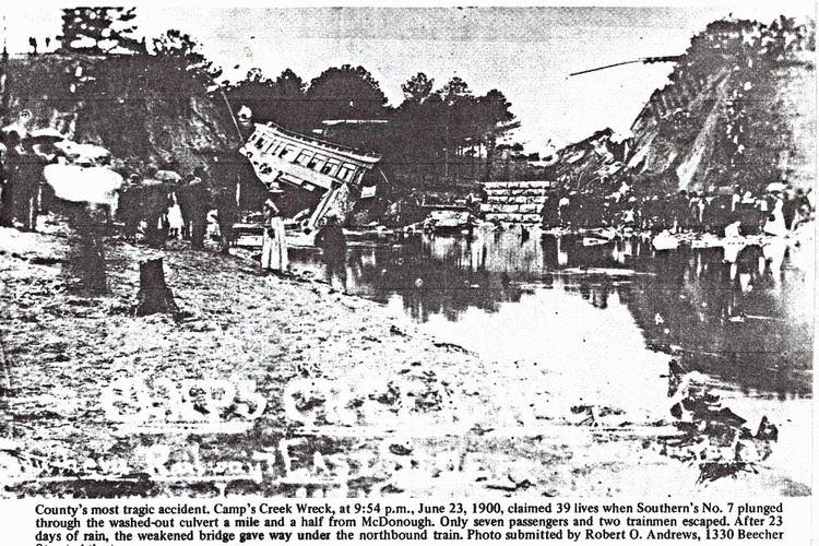 Camp Creek train wreck